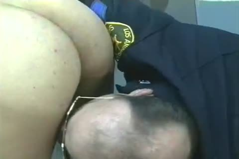 males In Uniform receive Filled And pounded doggy style.