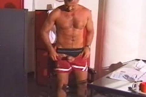 Marc West Jerks His Msucled jock