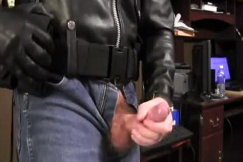 Border Patrol Jerks In Leather Jacket And slutty Jeans