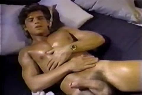 Jerking To A Jeff Stryker clip Then engulfing Him For Real