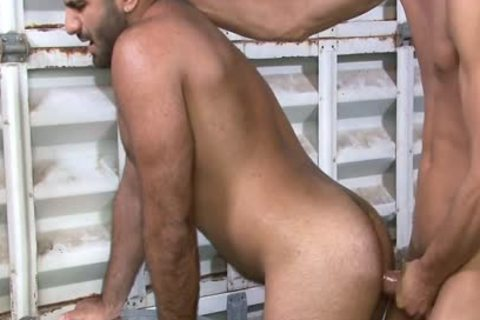 Excited homo Gives suck job job At Work