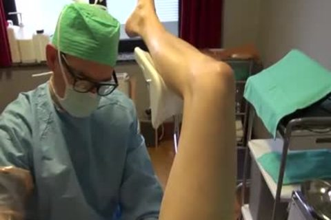 25yo Male Patient acquires Fisting Initiation By Surgeon On The Examination Table.