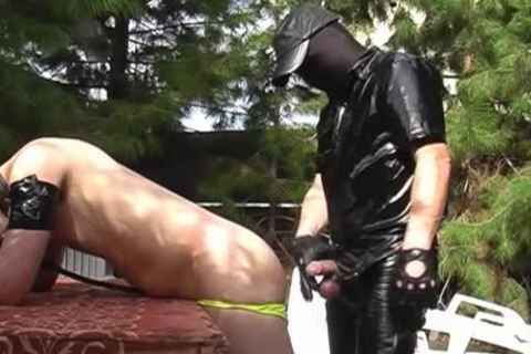 A lad Dressed In Latex Who Wants To pound
