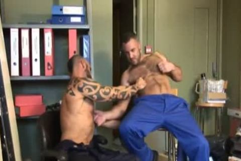 appealing, bushy Muscle Sex