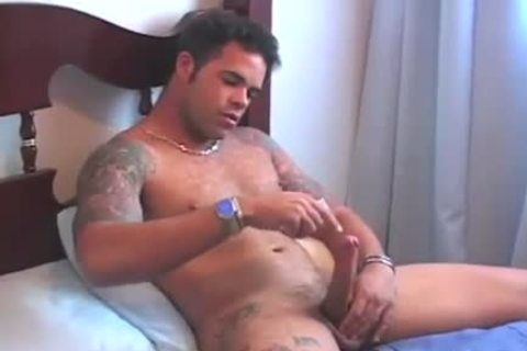 fella Is Playing With His cock