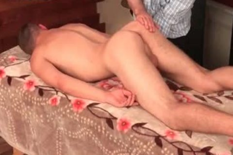 twinks Massage Oil ass And dildo cum