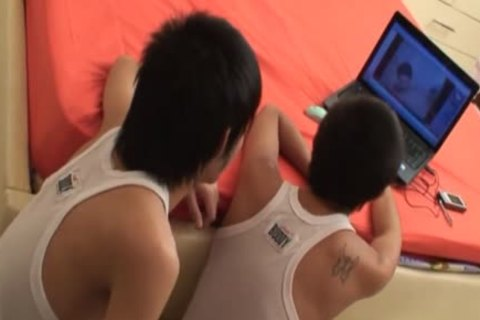 oriental teens Aom And Non urinate And slam