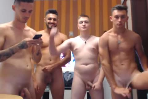 4 attractive Romanian boyz, Hard dongs & nice-looking booties