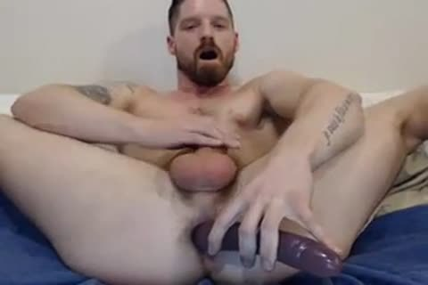 fake penis In butthole goo In Face