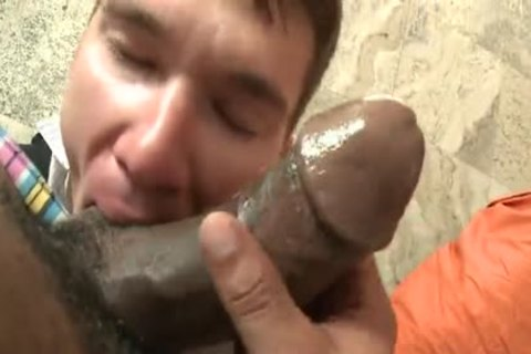 immodest twink Swallows sperm