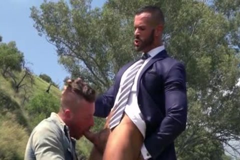 Muscle homo Outdoor With Facial