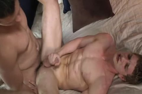 Muscle gay pooper-copulation With swallow
