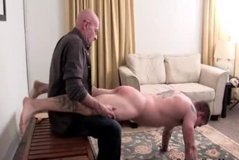 Muscle non-professional drubbing With cumshot