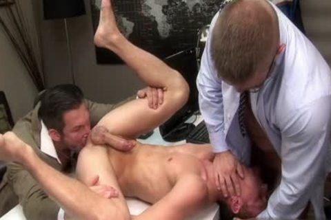 large wang gay threesome With Facial