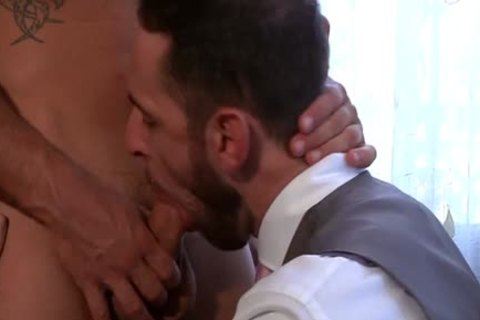 Muscle gay anal-copulation And jizz flow