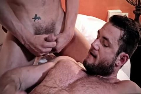 hairy homo 3some With cumshot