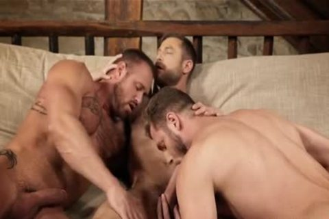 muscular trio unprotected And Creampie