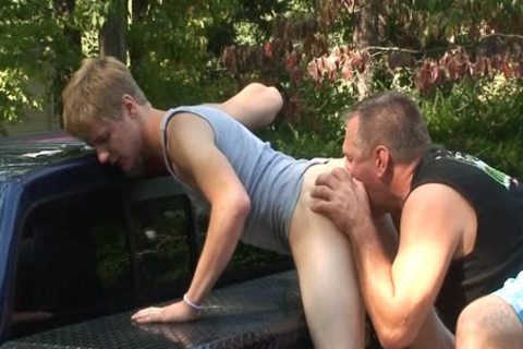 Daddy pounds Dillion raw Outside