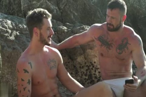 Muscle gay Outdoor And sex cream flow