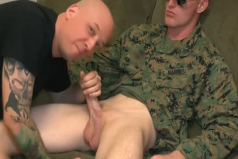Marine Sgt James blow job-stimulation