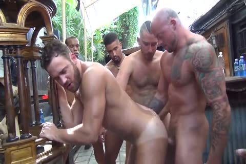 MusclePup Logan Moore gets gang gangbanged & Barebacked pound