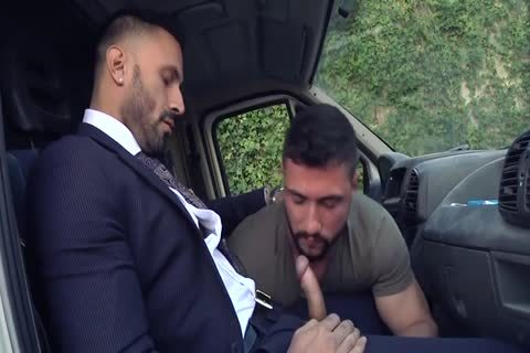 Alpha Truck Driver pounded By Suit Hunk