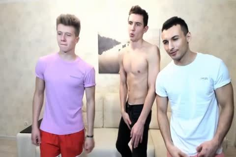 three Russian handsome twinks With Great Round booties,admirable ramrods On web camera
