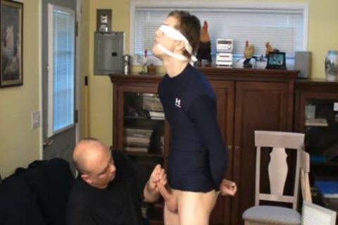 Straight Captive twink, tied And Gagged, Made To cum