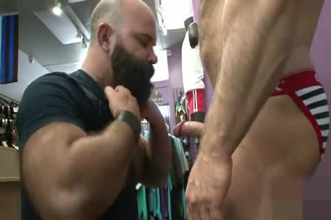Muscled daddy booty Nailed doggy style