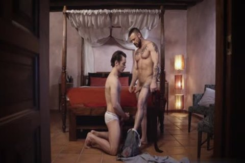 Tattoo gay Domination And cumshot