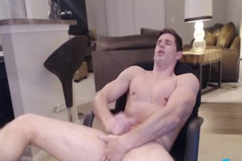Flirt4Free Model Adonis Summoning - Hunky Ripped Straight dude Fingers His butt