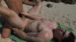 Sex On The Beach - Brent Everett with Eric Clark anal Hook up