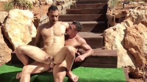 guys In Ibiza - Paddy O'Brian and Juan Lopez butthole Hump