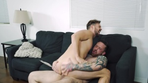 Space Invaders - Jordan Levine and Casey Jacks anal sex