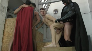 Batman V Superman : A gay XXX Parody - Trenton Ducati and Dario Beck wazoo pound