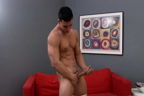 Topher Stroking His Hard pecker