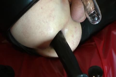 Sissy Doll nailed Red Pumps huge dildo