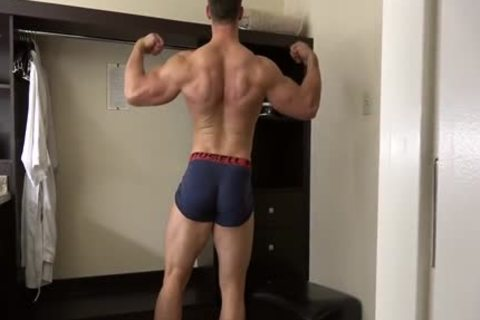 pumped up Fitness Enjoying Giving pleasure To His sleazy Body