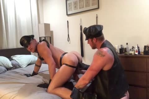 A pair's Leather sexual dream