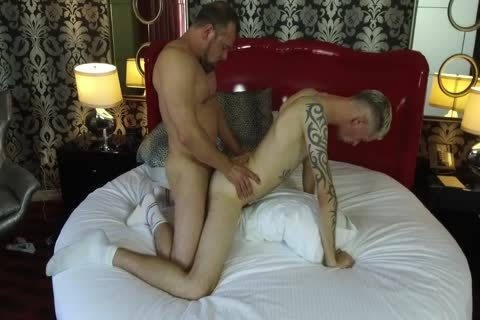 Robert Rexton receives plowed By Muscle Daddies Max Sargent & Chance Caldwell