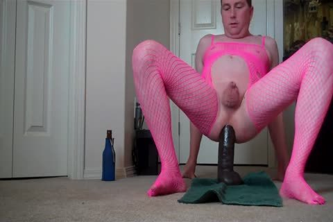 Micropenis Sissy Jeffrey Hewitt Rides A massive fake penis And Cums