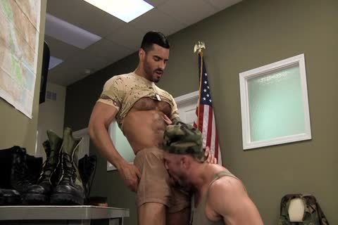 Army guys guys Polishing Each Other's Boots