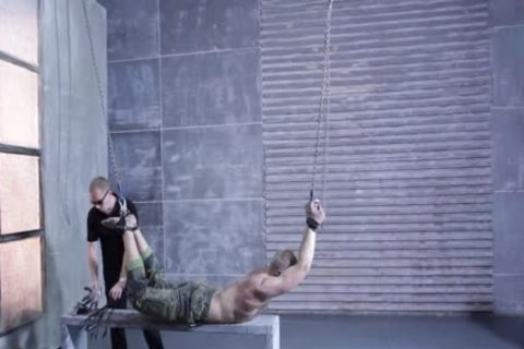 Army Muscle boy In Trouble