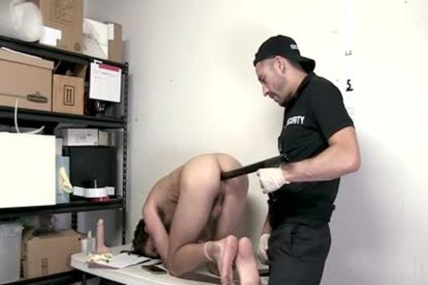 Shoplifter bound And Barefucked By Guard