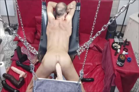 Sling Doggy With Swinging dildo