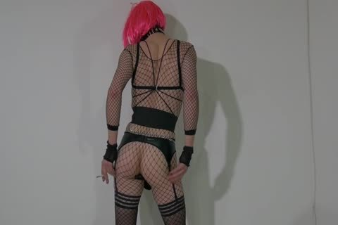 lustful Crossdresser Partying At Home In lustful Outfit