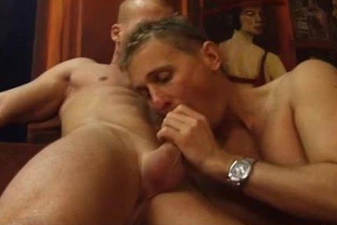 Two meaty dudes Have A hot pound On The couch