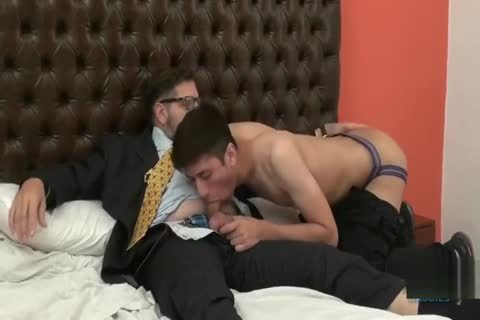 The Son Seduces His Married Daddy After Work