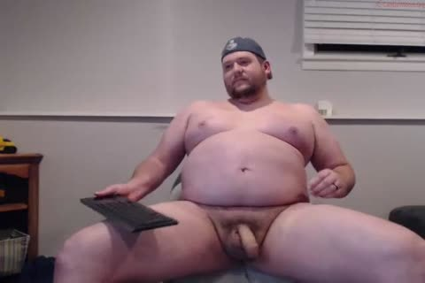 horny fat Straight pecker disrobes N Cums