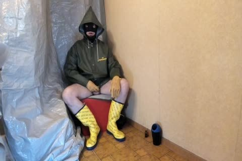 wanking In My Rubber And Oilskin